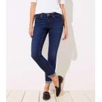 Curvy Soft Slim Pocket Skinny Crop Jeans in Authentic Dark Indigo Wash