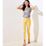 Modern Slim Pocket Skinny Crop Jeans in Yellow