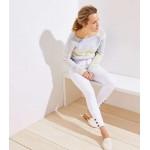 Modern Button Cuff Slim Pocket Skinny Jeans in White