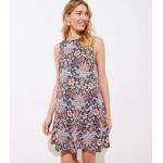 Maternity Paisley Floral Sleeveless Swing Dress