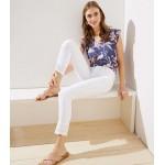 Eyelet Skinny Crop Jeans in White