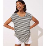 Maternity Striped Pocket Linen Tee