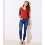 Modern Frayed Skinny Jeans in Vivid Mid Indigo Wash