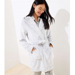 Faux Fur Hooded Robe
