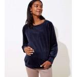 Maternity Velvet Sweatshirt