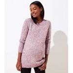 Maternity Marled Hi-Lo Hem Sweater
