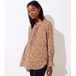 Maternity Floral Pintucked Henley Blouse
