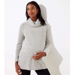 Maternity Boucle Cowl Neck Tunic Top