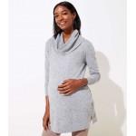 Maternity Flecked Cowl Neck Tunic Sweater