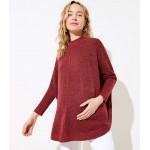 Maternity Turtleneck Poncho Sweater