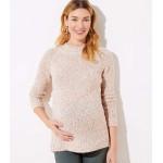 Maternity Marled Crew Neck Sweater