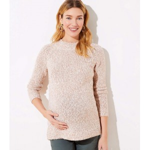 Maternity Marled Crew Neck Sweater