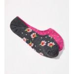 Shimmer Floral No Show Socks