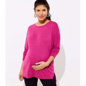 Maternity Long Sleeve Tunic Tee