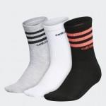 3-Stripes Crew Socks 3 Pairs