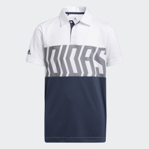 Print Colorblock Polo Shirt