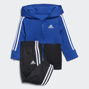 Block Fleece Hooded Jacket Set