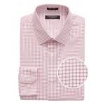 Grant Slim-Fit Non-Iron Grid Dress Shirt