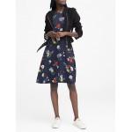 Petite Patrizia Floral Racer-Neck Fit-and-Flare Dress