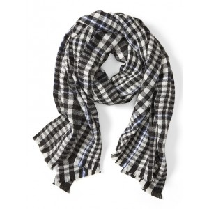 Checker Plaid Rectangular Scarf