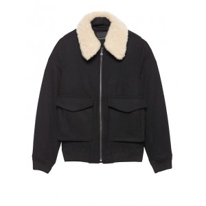 JAPAN ONLINE EXCLUSIVE Shearling Collar Bomber Jacket