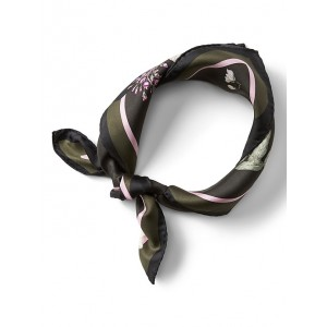 Petra Floral Small Square Silk Scarf