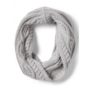 Chunky Cable-Knit Snood Scarf