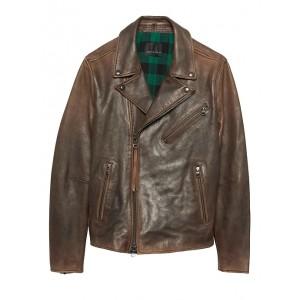 BR x Kevin Love | Slim Leather Biker Jacket