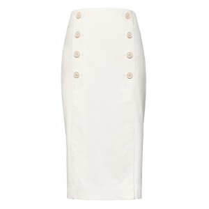 JAPAN ONLINE EXCLUSIVE Pencil Skirt with Pleated Panels