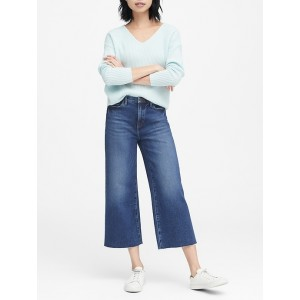 JAPAN ONLINE EXCLUSIVE High-Rise Wide-Leg Cropped Jean