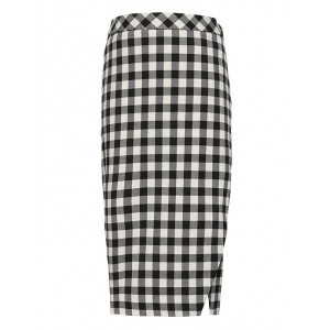 JAPAN ONLINE EXCLUSIVE Buffalo Plaid Wrap-Effect Pencil Skirt