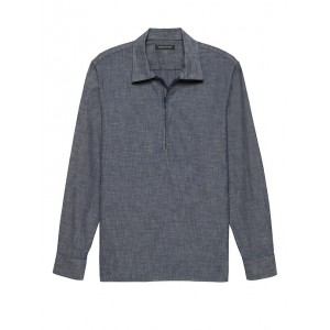 JAPAN ONLINE EXCLUSIVE Oversized Chambray Half-Zip Shirt