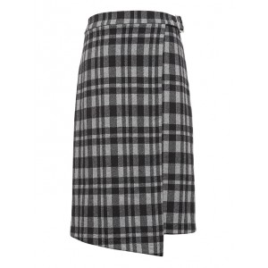 JAPAN ONLINE EXCLUSIVE Plaid Knit Wrap Skirt