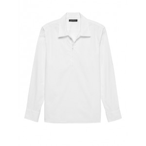 JAPAN ONLINE EXCLUSIVE Oversized Luxe Poplin Half-Zip Shirt