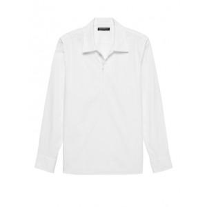 JAPAN ONLINE EXCLUSIVE Oversized Luxe Poplin Half-Zip Shirt
