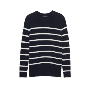 Petite Aire Stripe Crew-Neck Sweater