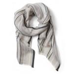 Linen Shine Stripe Rectangular Scarf