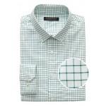 Slim-Fit Tech-Stretch Cotton Grid Shirt