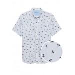 Slim-Fit Luxe Poplin Print Shirt