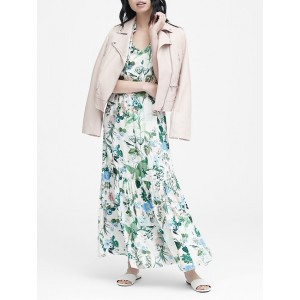 Petite Botanical Print Maxi Dress