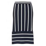 Stripe Knit Pencil Skirt