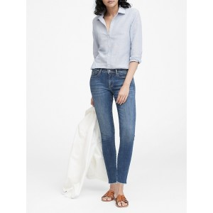 Petite High-Rise Legging Luxe Sculpt Jean with Fray Hem
