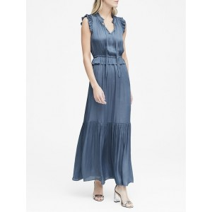 Petite Soft Satin Maxi Dress