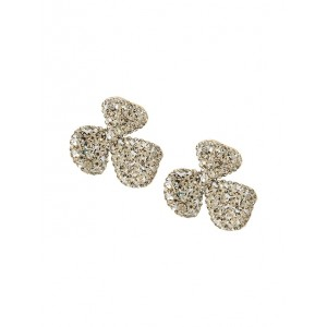 Floral Pave Earrings