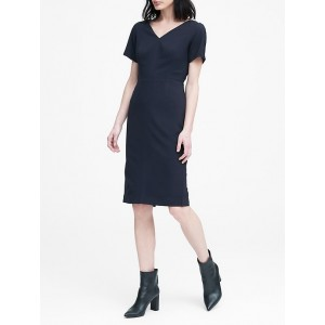 Lightweight Wool V-Back Dress