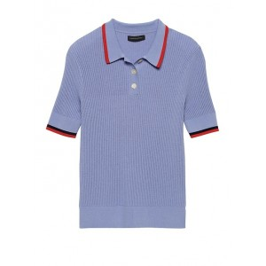 Ribbed Sweater Polo