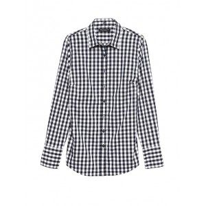 Petite Riley Tailored-Fit Gingham Shirt