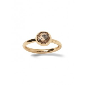 Brilliant Gemstone Rounded Stone Ring