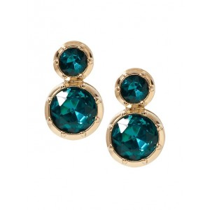 Brilliant Gemstone Rounded Drop Earrings