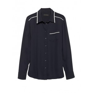 Petite Dillon Classic-Fit Piped Shirt